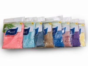 Đơn vị SX:Công ty TNHH Sản xuất dệt may Tuấn Anh  Màu sắc:Cam,Vàng, Xanh dương, Nâu, Xanh lá,…  Chất liệu:Cotton 100%  Kiểu dáng:Phong phú, đẹp, thiết kế theo yêu cầu  Trọng lượng: 70gram  Kích thước:Kt 30×50 cm