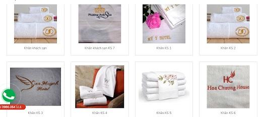 Các mẫu khăn khách sạn đẹp của Dệt may Tuấn Anh