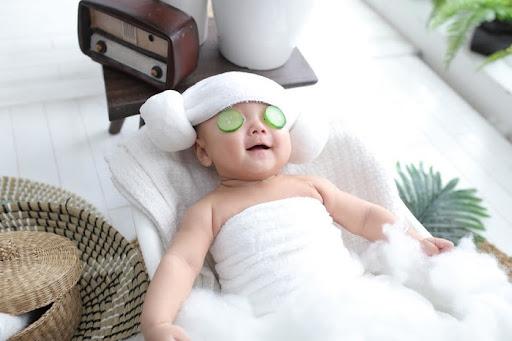 Quấn khăn tắm lên đầu kiểu chú cừu đẹp